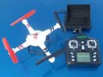 FPV Explorer Quadrocopter  (élő kamerakép monitorral)