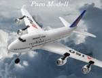 B-747 Rc Utasszállító /giroszkóppal/