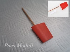 Kormánylapát (piros, 30x31)